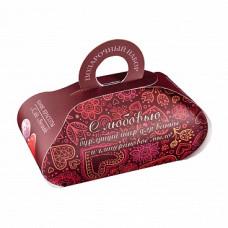 Подарочный набор   С ЛЮБОВЬЮ   твердое глицериновое мыло ручной работы, бурлящий шар для ванны   Кафе Красоты