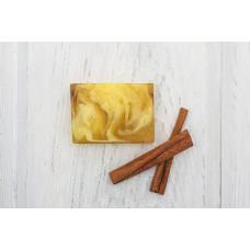Глицериновое мыло ручной работы  ЯБЛОЧНЫЙ ПАЙ  сок яблока, экстракт корицы  100g Кафе Красоты