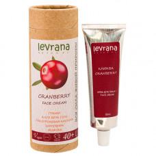 Крем для лица   КЛЮКВА   антивозрастной 40+  50 ml Levrana