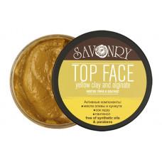 Маска для лица   TOP FACE   жёлтая глина с альгинатом   150g Savonry