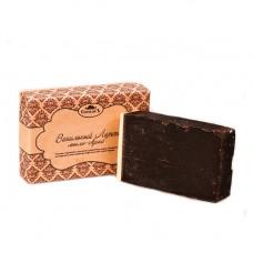 Натуральное мыло-скраб ручной работы  ВАНИЛЬНЫЙ ЛАТТЕ  для сухой кожи, тонизирует,  антицеллюлитный и антивозрастной, в подарочной упаковке   100g СпивакЪ